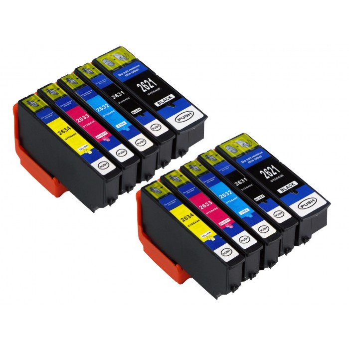 10x Tusze do Epson T2621 / T2634 (26XL)