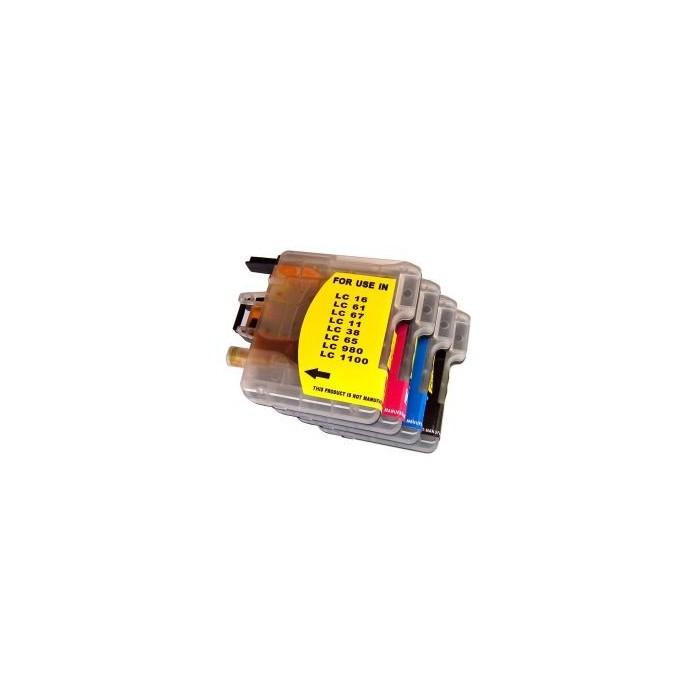 Tusz Brother LC 980 / LC 1100 - żółty