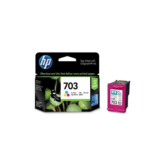 Oryginalny tusz HP 703 (CD888AE / 250 str.) - kolor