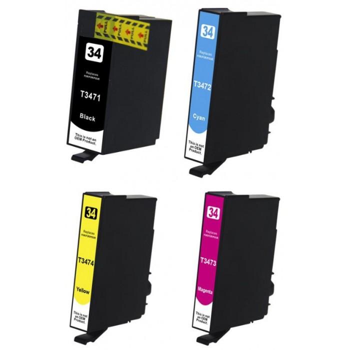 4x Tusz do drukarki Epson T3471 - T3474 (34XL / komplet kolorów)