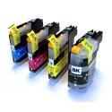 4x Tusz do Brother LC 123 - komplet kolorów (chip nowej generacji V3)