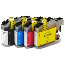 4x Tusz Brother LC 223