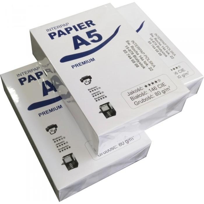 Papier A5 - 10 ryz - karton
