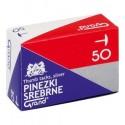 Pinezki srebrne GRAND