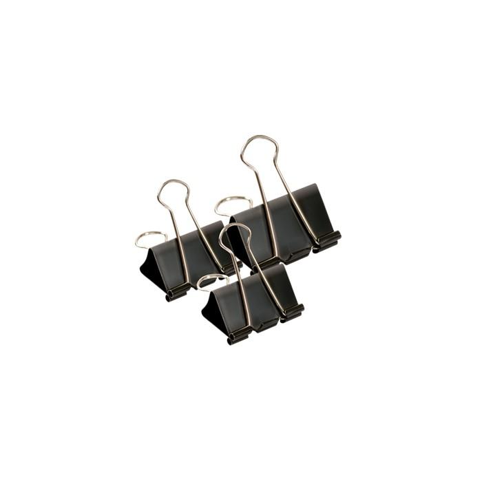 Klipy biurowe 19 mm czarne op. 12 szt