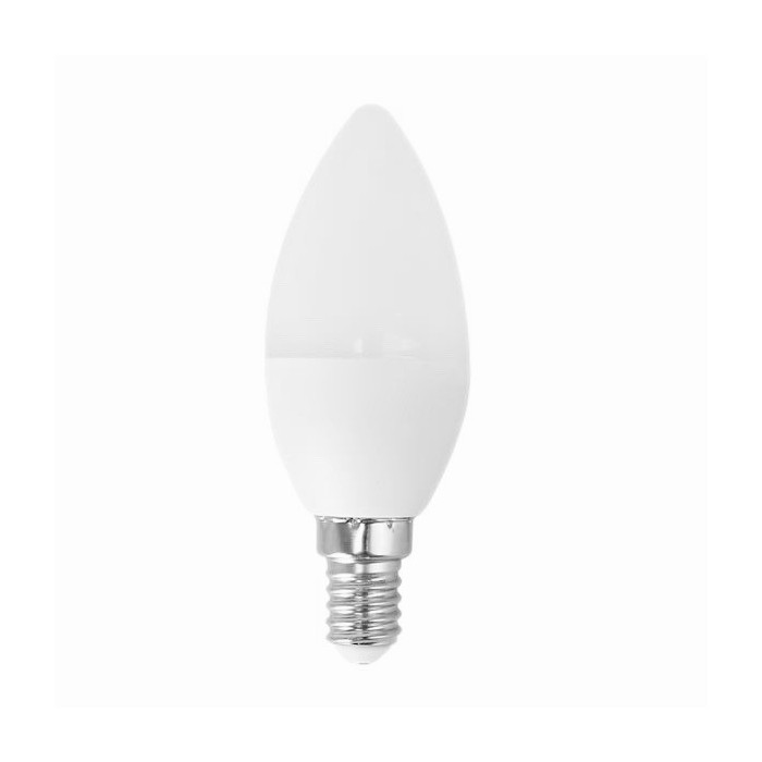 Żarówka LED E14 6W (C37 / świeczka) - zimna biel