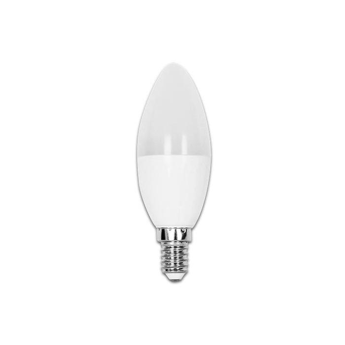 Żarówka LED E14 7W (C37 / świeczka) - zimna biel