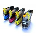 Komplet tuszy do drukarki Brother DCP-J132W / DCP-J152W - chip nowej generacji V3