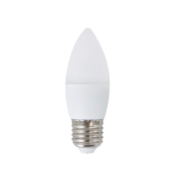 Żarówka LED E27 6W (C37 / świeczka) - zimna biel