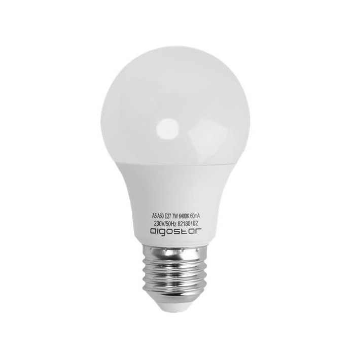 Żarówka LED E27 7W (A60B / kulka) - ciepła biel