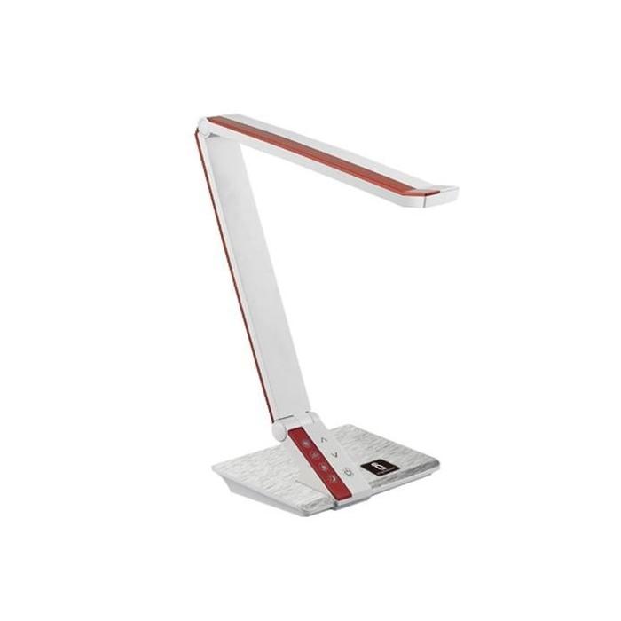 Lampka biurkowa LED LIGHT03 ze ściemniaczem - biało czerwona