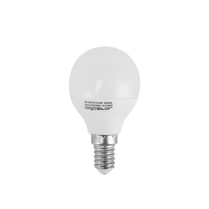 Żarówka LED E14 6W (G45 / mała kulka) - zimna biel