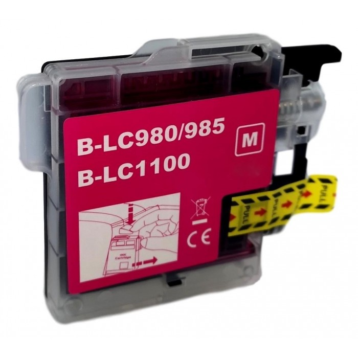 Tusz Brother LC 980 / LC 1100 - magenta