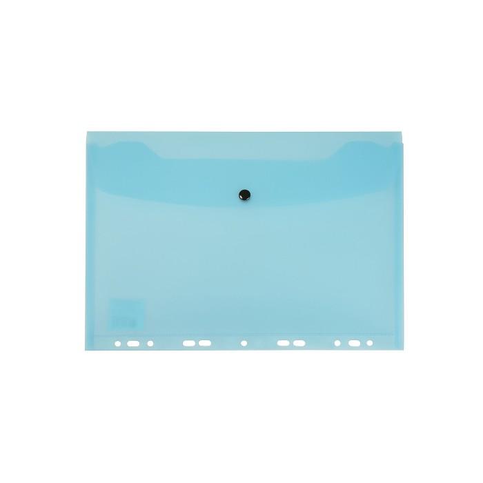 Teczka kopertowa zawieszana z zatrzaskiem A5 PP - niebieska