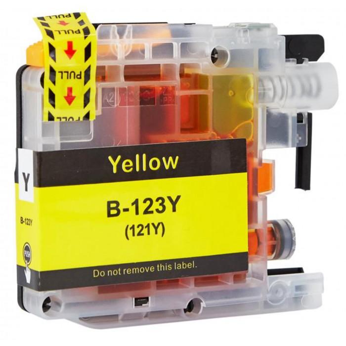 Zamiennik tuszu do Brother LC 123 - żółty - chip nowej generacji V3