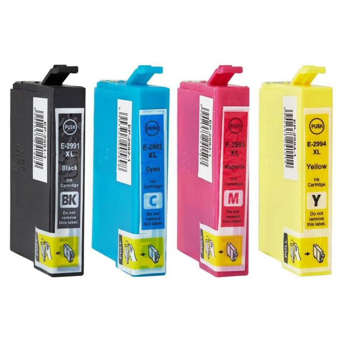 4x Zamiennik tuszu do drukarki Epson T2991 - T2994 XL CMYK (T2995 / 29XL)
