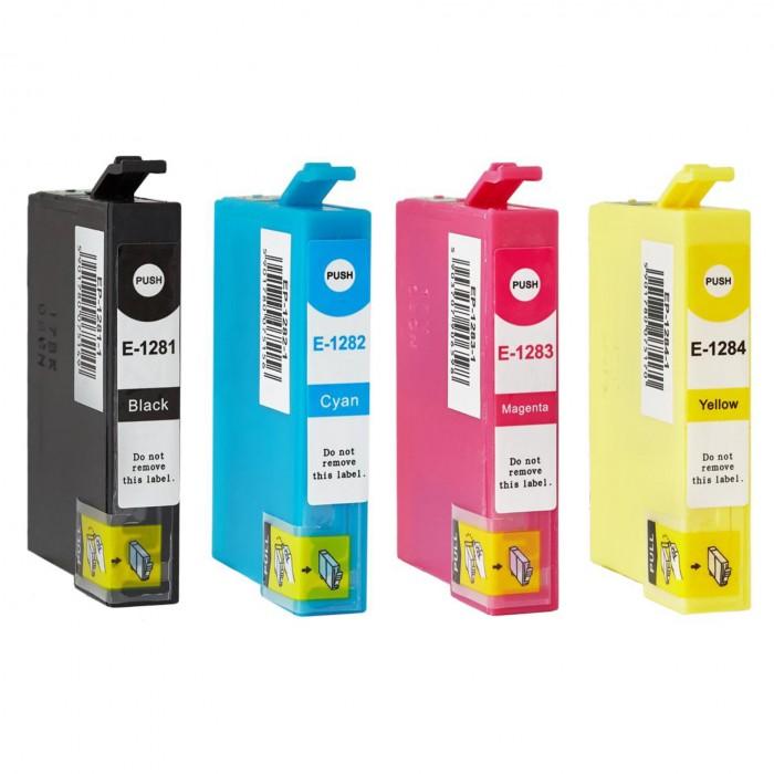 4x Zamiennik tuszu do drukarki Epson T1281 - T1284 (T1281 XL / CMYK) - komplet kolorów