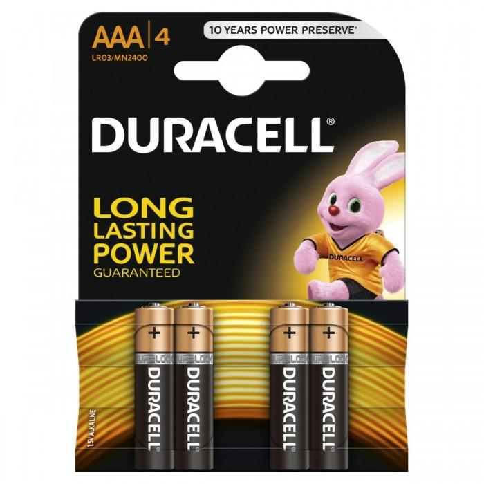 4x Bateria DURACELL AAA (alkaliczna)