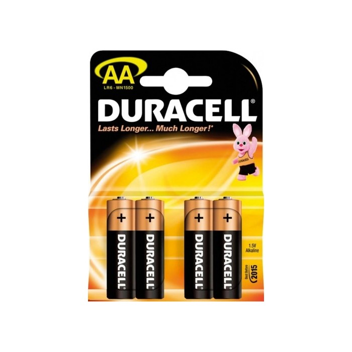 4x Bateria DURACELL AA (alkaliczna)