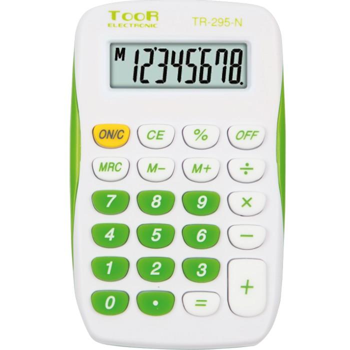 Kalkulator kieszonkowy TOOR TR-295-N (biało-zielony)