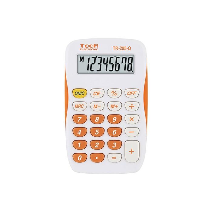 Kalkulator kieszonkowy TOOR TR-295-N (biało-pomarańczowy)
