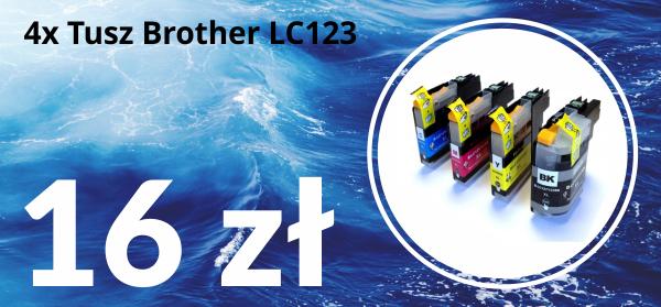 Zamienne tusze do drukarki Brother LC123 z chipem V3