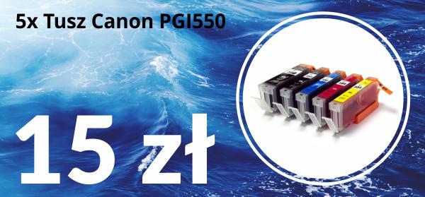 Tusze zamienniki do drukarki Canon PGI550 / CLI551